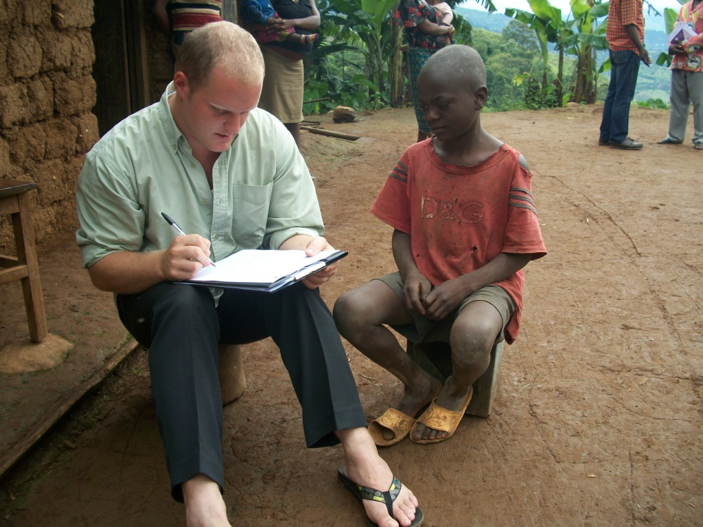 Stephen Cormier interviewing a child