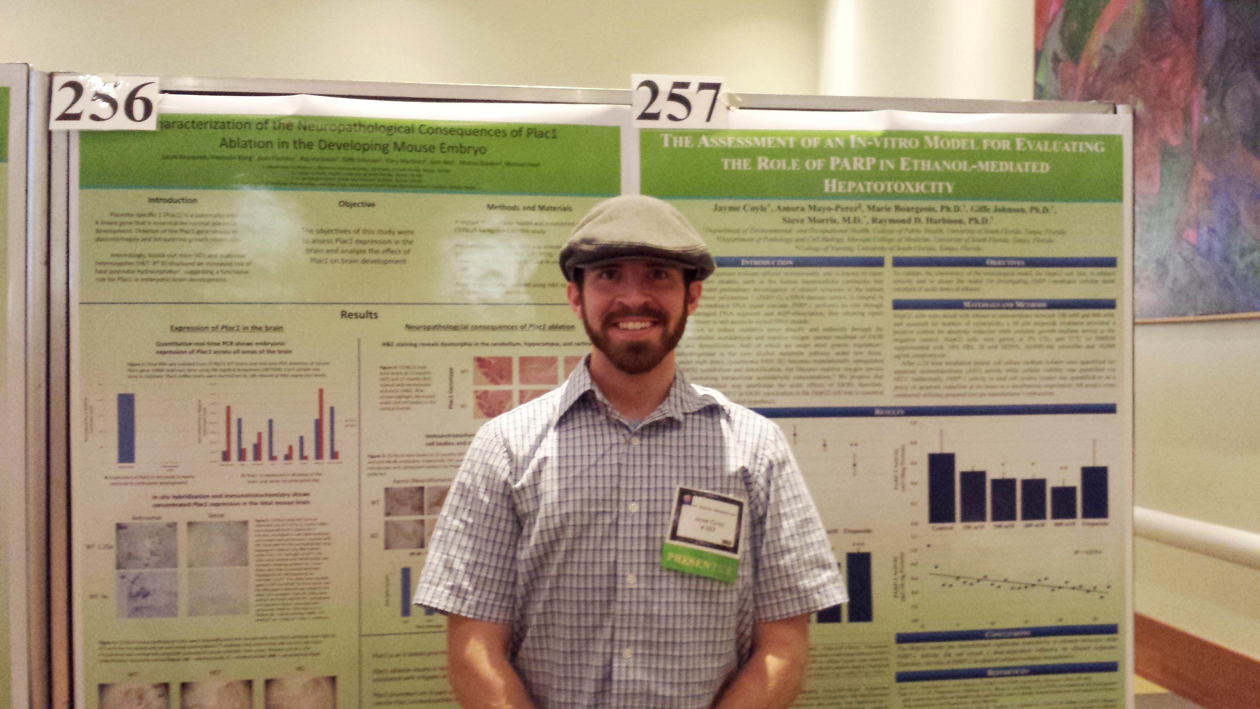 "Mr. Jayme Coyle, MSPH, won the Best COPH Poster Presentation for Environmental and Occupational Health. His poster titled ""The Assessment of an In Vitro Model for Evaluating the Role of PARP in Ethanol-Mediated Hepatotoxicity"" will also be presented at the Society of Toxicology meeting in Phoenix on March 24."
